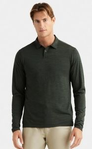 NWT❗ RHONE Trek Merino Wool long sleeve polo